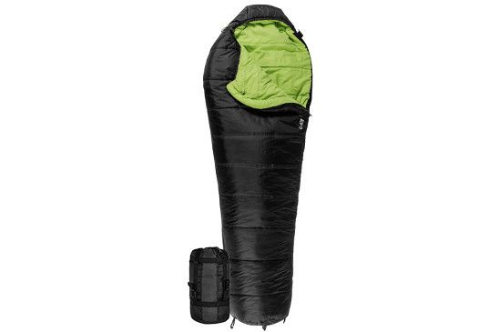 LEEF 0°F UltraLight Sleeping Bag W/ Body Mapping Innovative PolarLite™ micro fiber insulation helps cut weight without sacrificing comfort and warmth. 3-piece no gap hood adjusts around your face to k