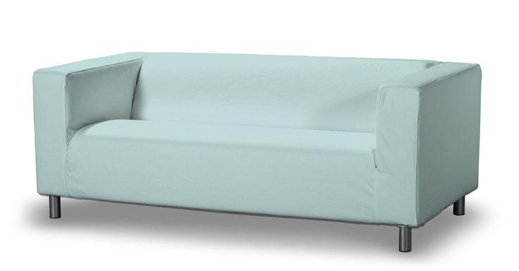 IKEA zitbankhoes voor Klippan 2-zitsbank,  uit de collectie Cotton Panama, Maat zitbankhoes, Klippan 2-zitsbank