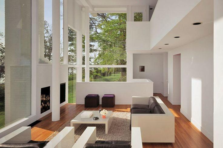 Smith House, Darien, Connecticut. Modernist architect Richard Meier