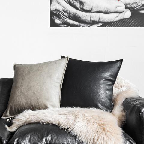 Soft PU Leather Cushion Cover