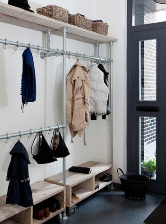 Small Space DIY: A Perfect Shoe Rack for a Narrow Entryway: Gardenista