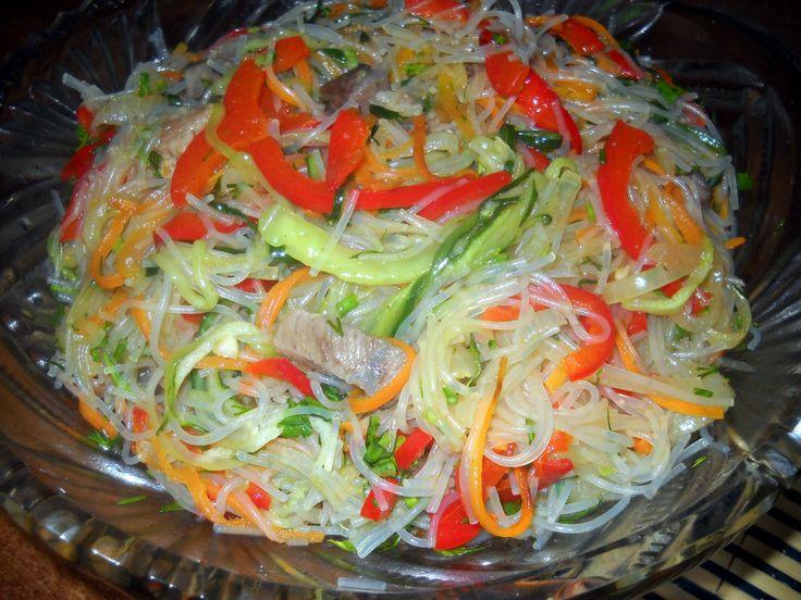 Фунчоза. Фунчоза с мясом салат