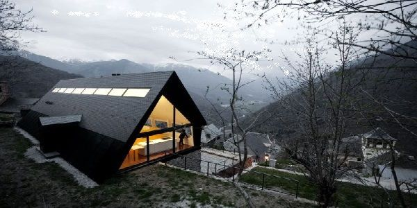 Triangular Home Design Found in the Pyrenees