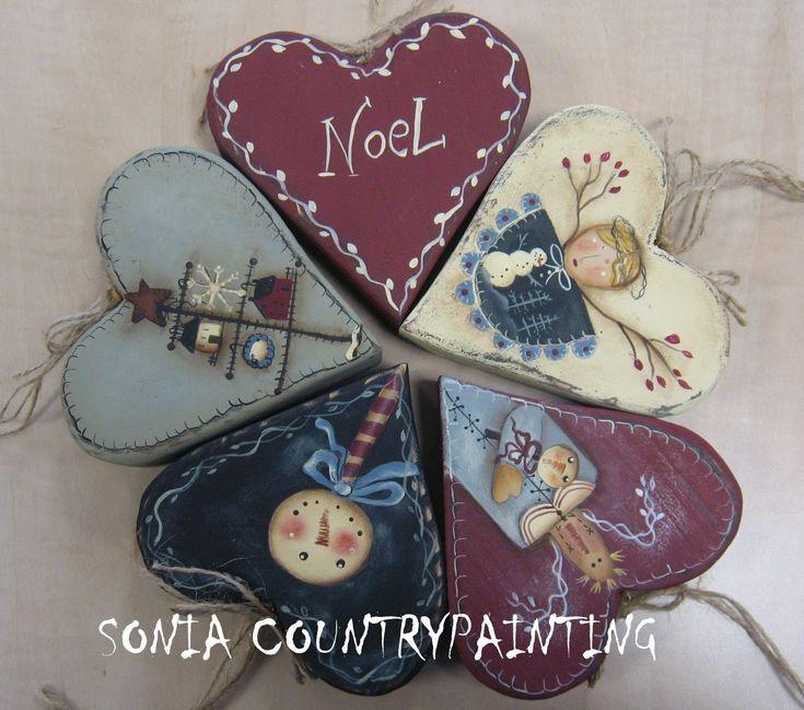 Sonia Countrypainting e Torta di Mele: * ANCOOOORA CUORI SHABBYCOUNTRY *