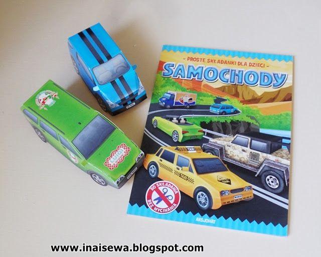 Ina i Sewa: Samochody 3D czyli proste składanki dla dzieci - Aksjomat