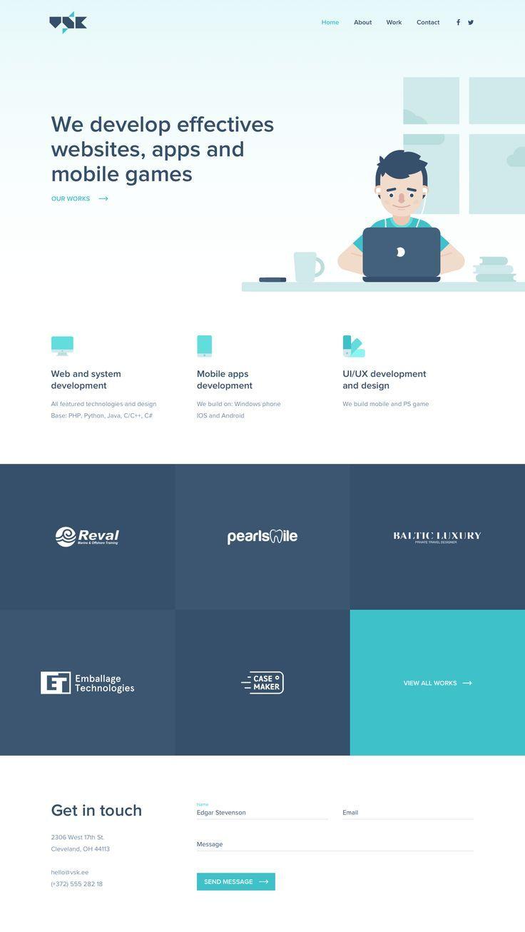 Homepage Web Design Web Development Design Minimal Web Design