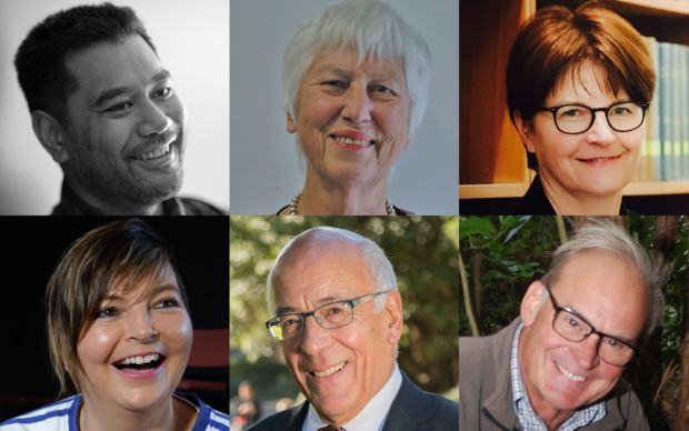Six of the 177 members of Queen's Birthday Honours List 2016, clockwise from top left: Neil Ieremia, Dame Karen Sewell, Dame Ellen France, Sir Rob Fenwick, Sir Chris Mace and Billie Jordan.