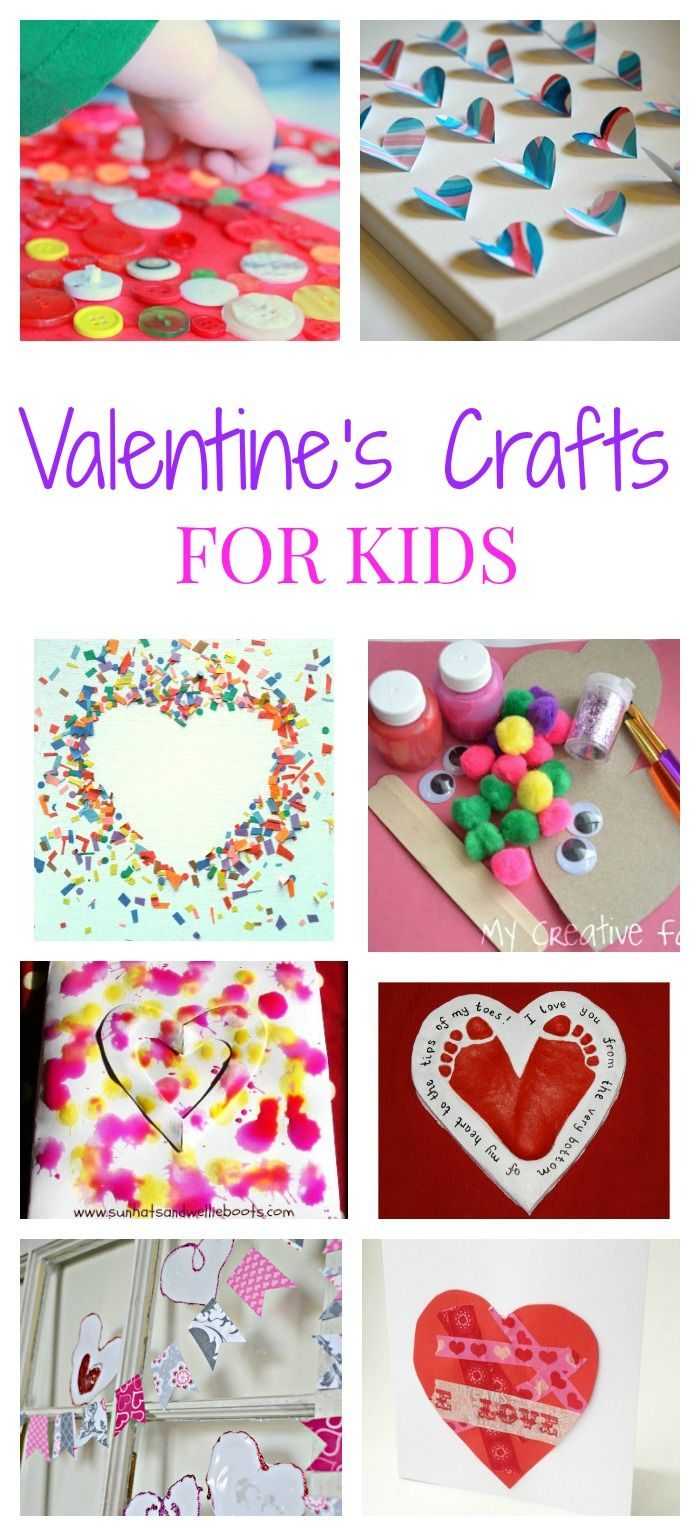 Valentine's Day crafts for toddlers and preschoolers and kids of all ages. Heart crafts, valentines and more