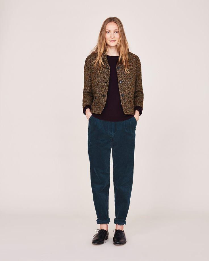 Women's Indigo Cord Trouser | Toast