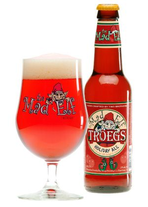 Tröegs Mad Elf Ale, Cherry based seasonal brew, really strong with a high alcohol content. Careful.