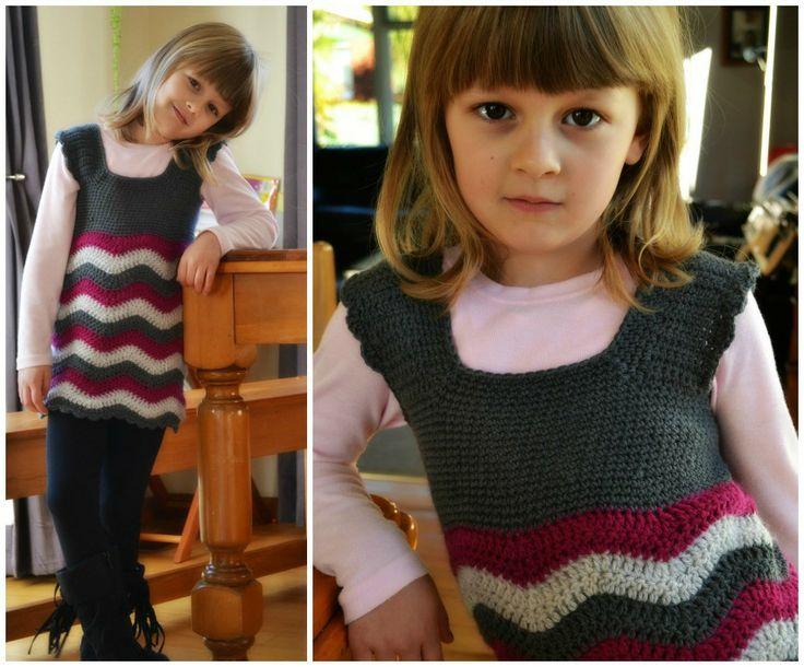Crochet ripple dress  free pattern