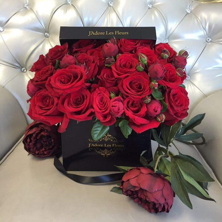 J'Adore Les Fleurs, Bouquet, Roses, Elegant Flowers, Hatbox, Flower