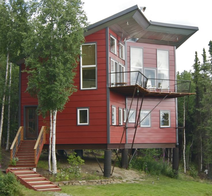 5445 Cascade Rd. Fairbanks, AK Hybrid Home A house designed and built as a modernAlaskahomestead experiment. The site is located 17 miles west of the University ofAlaska in Fairbanksin the hill…