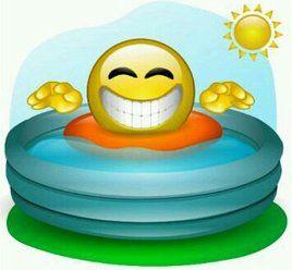 Poolside smile
