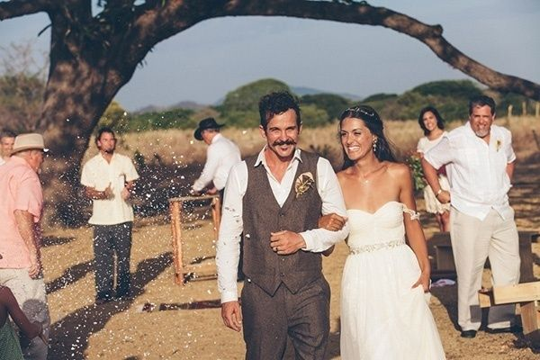 We can't get enough of the beautiful scenery, bride and groom's rustic ceremony, and the relaxed atmosphere of the entire Nicaragua destination wedding day.