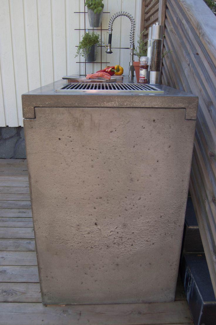 Utekök betongskiva – www.svenskbetongdesign.se
