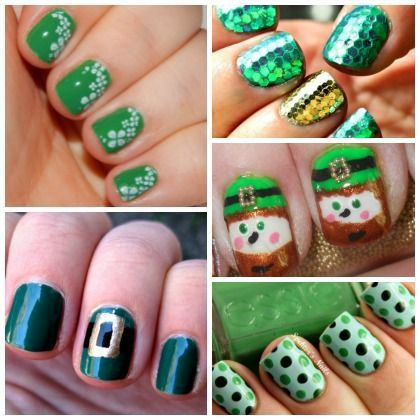 I'm feeling inspired! Lucky: 17 St. Patty's Day Nail Art Ideas