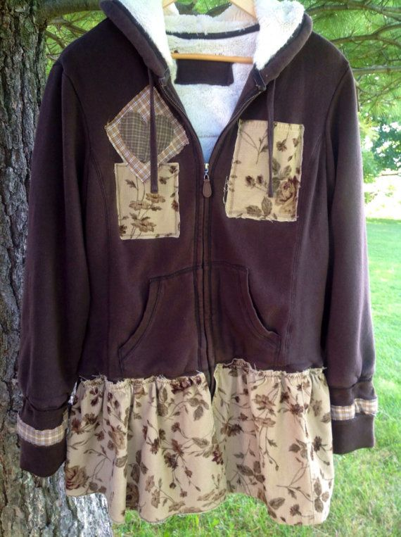 RESERVED-Large Upcycled Hoodie by SimplyCathrineAnn on Etsy
