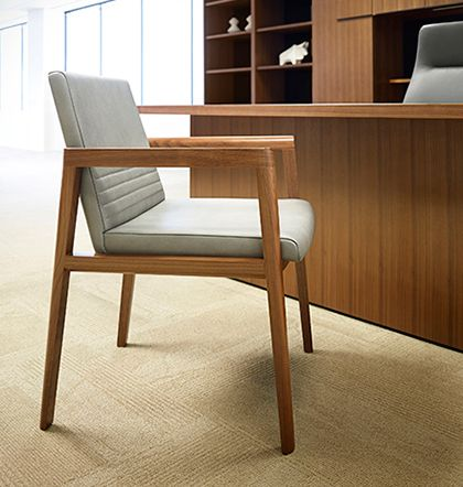 office furniture guest seating the open and closedback versions of this priced guest chair can have a solid wood back with an upholstered