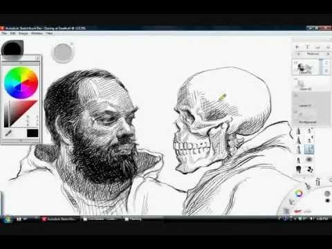 Pen and Ink Drawing Tutorial in Sketchbook Pro 6 - YouTube