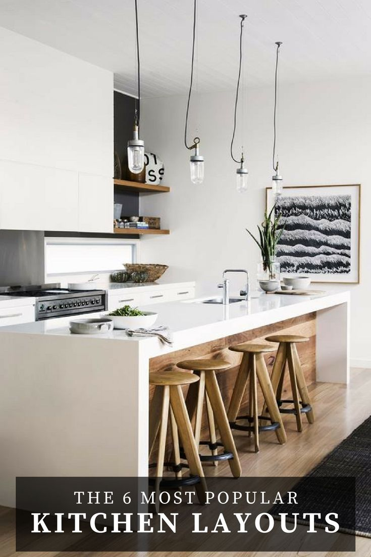 The six most popular types of kitchen layouts and designs. | Story: Australian House & Garden