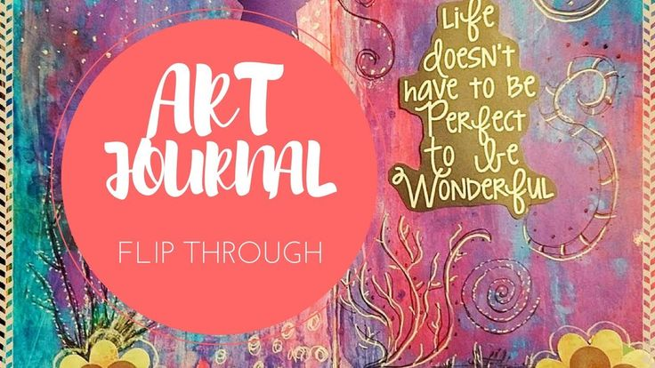 Art Journal Flip Through video of my mixed media, watercolour, collage and creative journal. Kerrymay._.Makes
