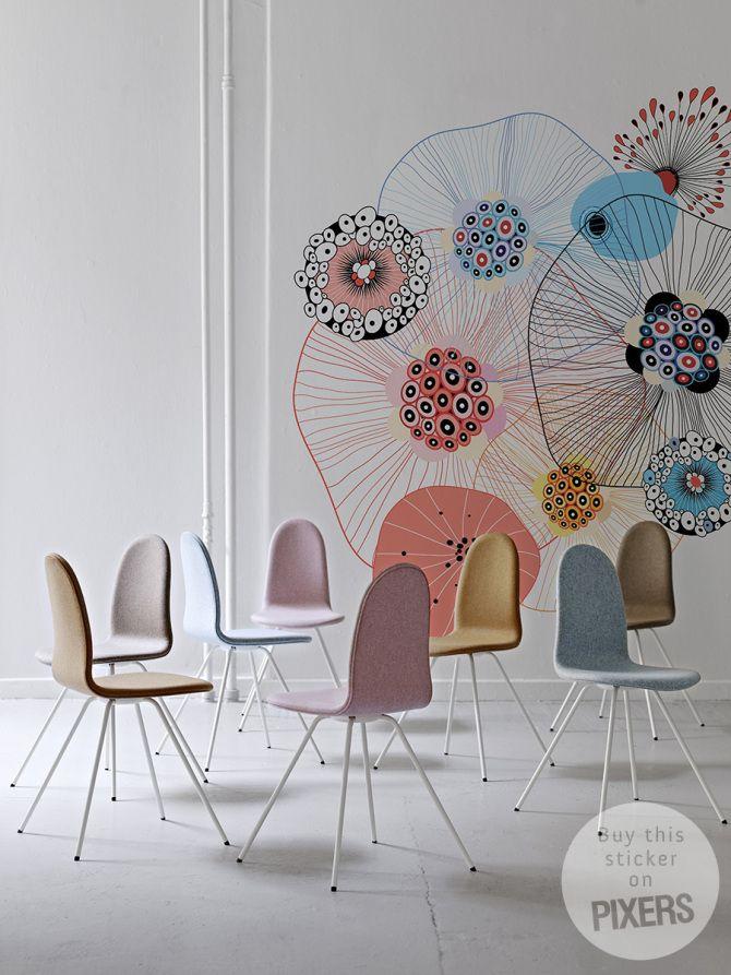 Sticker Floral Fireworks - inspiration sticker, interiors gallery• PIXERSIZE.com
