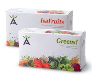 How to use Isagenix Greens & IsaFruits. Getting all the vitamins and minerals you need every day can be tough, especially if you're trying to meet your daily quota by consuming fruits and vegetables. But, there's an easy way to supplement your diet while also adding tasty flavor to your daily Isagenix® routine: meet Isagenix Greens!™ and IsaFruits®!