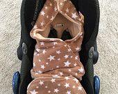 Baby Car Seat Blanket, Beige Car Seat Cosy, Car Seat Wrap, Brown Liner, Baby Seat Blanket, Car Seat Cover, Baby Wrap, Baby Seat Snug