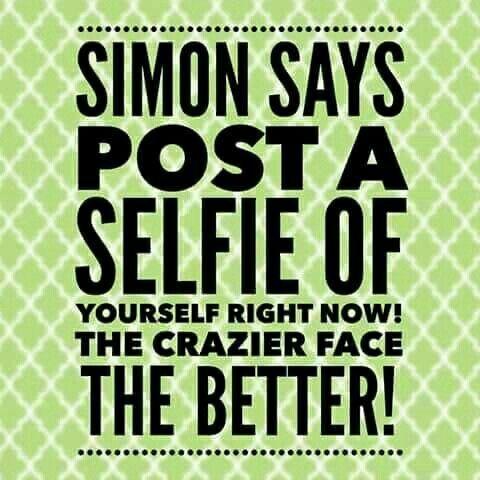 Simon Says game: selfie.  #ThirtyOne #ThirtyOneGifts #31Party…