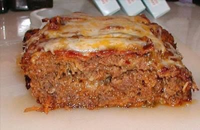 Ingredients :    2 lbs ground beef  1 1/2 cups Italian breadcrumbs (or plain)  0.75 (16 ounce) jar mild salsa  1/4 cup ketchup  1/2 cup cheddar cheese or 1/2 cup mozzarella cheese, small diced  2 dashes basil  2 dashes oregano  2 dashes onion powder  2