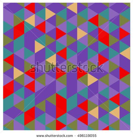 Vector abstract geometric cube and triangle angular colorful pattern. Background for layout design and poster.