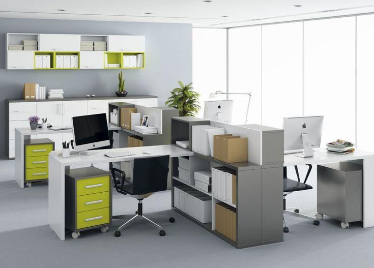 Modern open plan office #openplanoffice