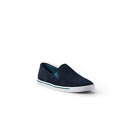 Lands End Womens Casual Suede Slipon Shoes 10 Deep Sea * Check out this great product.