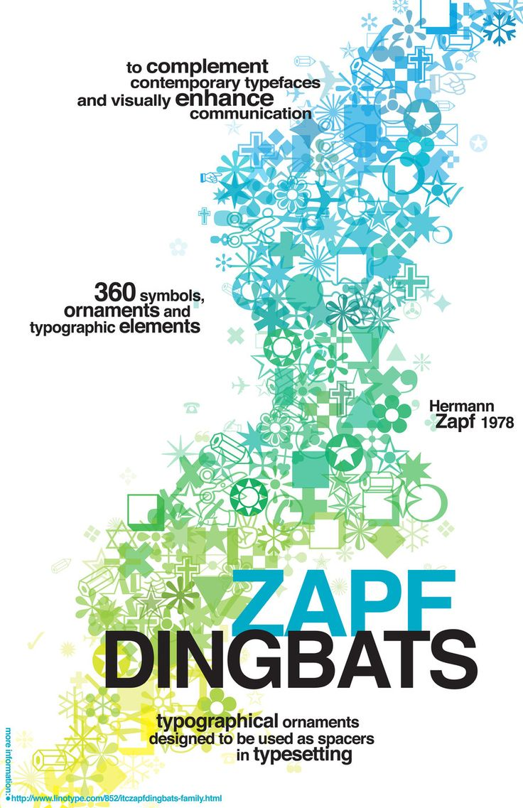 Poster design elements - Zapf Dingbats Poster By Butbrightlylit Deviantart Com