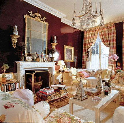 Mario Buatta: a room designed at the request of Barbara Walters for a Charity Event, 1990.