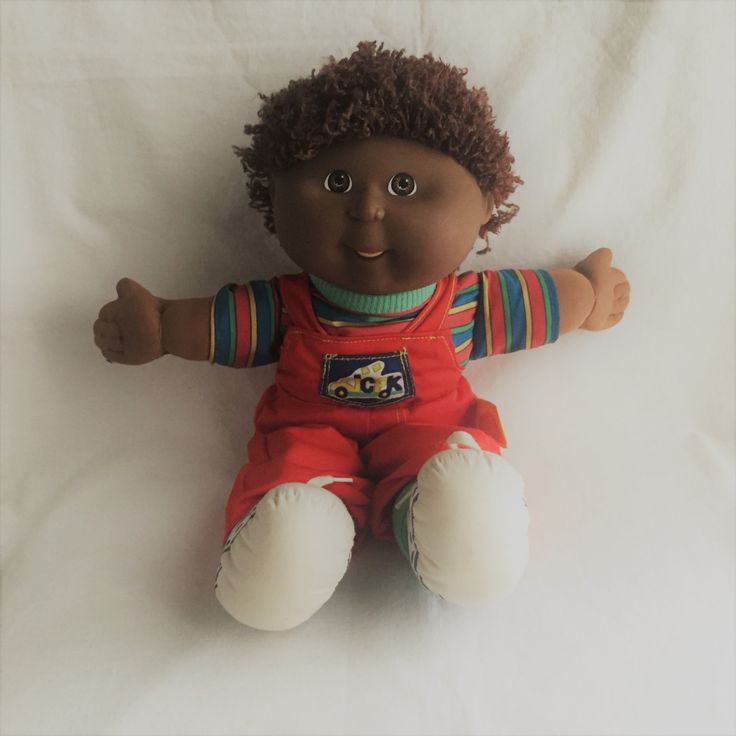 $32 vintage boy cabbage patch doll toddler cabbage patch small boy in red overalls doll cabbage patch toddler male doll vintage cabbage patch by GlyndasVintageshop on Etsy