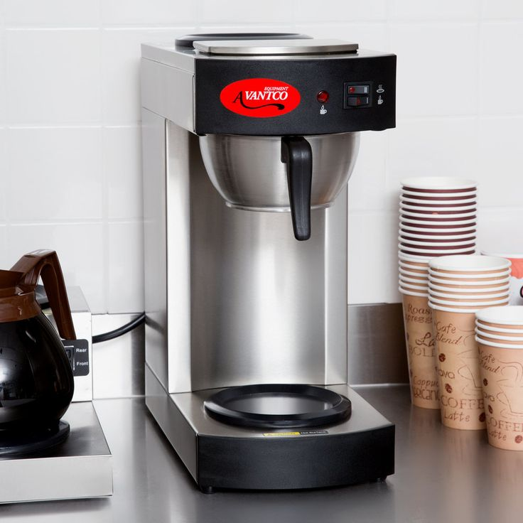 avantco c10 12 cup pourover commercial coffee maker with 2 warmers 120v industrial coffee maker