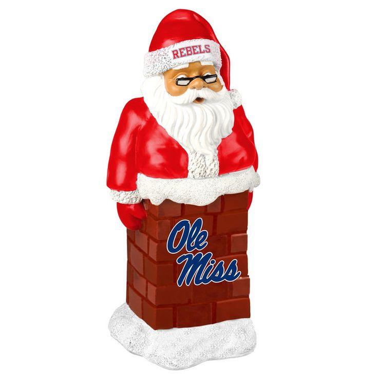 Ole Miss Rebels Santa With Chimney