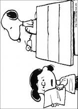 Snoopy Coloring Pages On Book