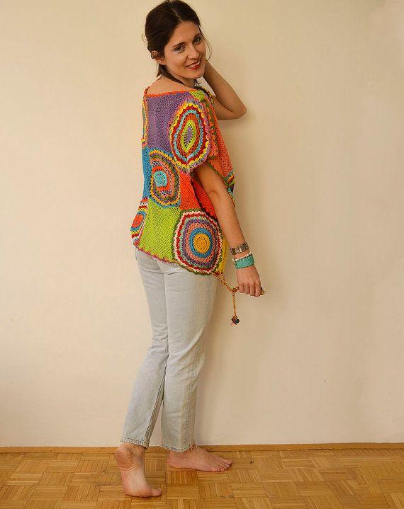 Plus Size Clothing Women's Sweater Vest Crochet by subrosa123