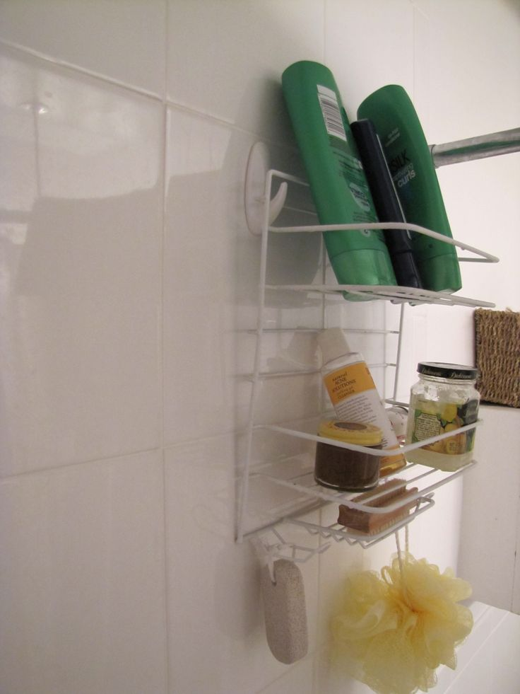 Command Hooks For Bathroom. Use Command Hooks Special Made For Humid Bathrooms To Hold Shower Caddy On The