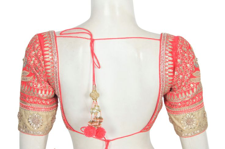 Anita Dongre Coral Lengha Blouse Back