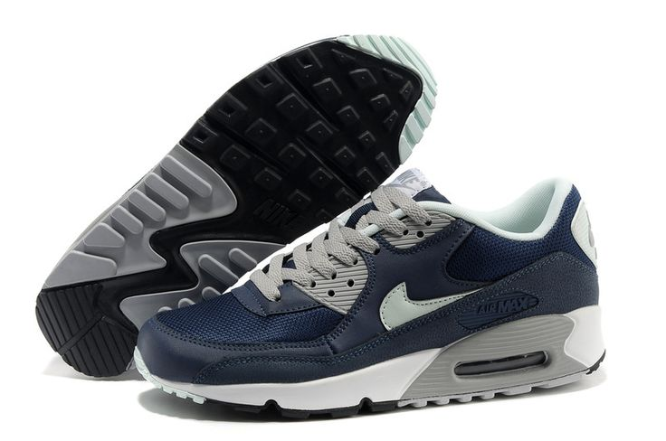 Men's Nike Air Max 90 Sneaker Shoes A+ Jogging Shoes Dark Blue #cheapshoes #sneakers #runningshoes #popular #nikeshoes #authenticshoes