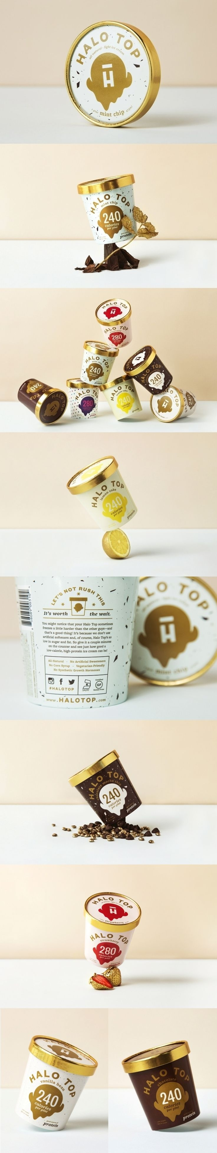 """ I thought there was no way this clould be tasty but I was wrong. So. Good. April 2016"" Halo Top Creamy. Great taste, great health."