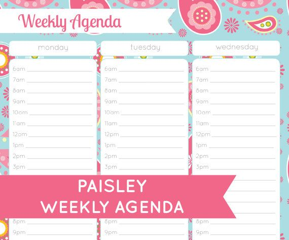 58 best Time Management images on Pinterest Organizers, Getting - agenda download free