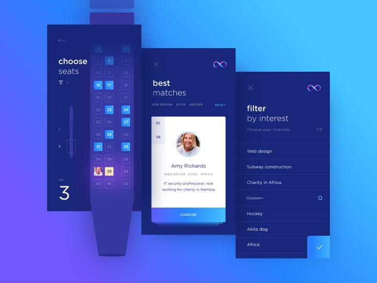 Hyperloop app UI design