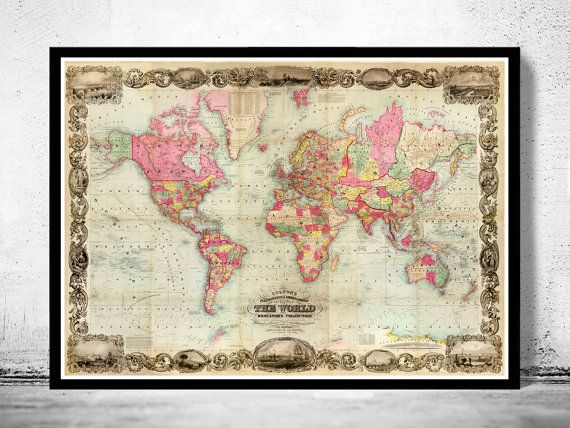 215 best old world maps images on pinterest old world maps for our table plan world map vintage map print antique prints old prints map wall art old maps large map poster maps home decor wall map decor wall maps on gumiabroncs Images
