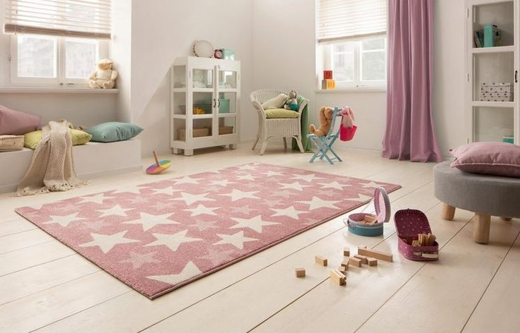 Kinderteppich »Stars«, Lüttenhütt, rechteckig, Höhe 13 mm, pastellfarben