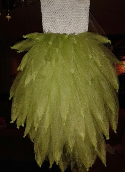 Tinker bell Costume Tutu. Handmade &created by Donna. Really layered&puffy. Camera doesn't catch the full beauty of  this Costume! This one is size 7-9. Only $65.00